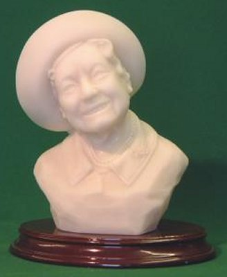Queen Mother Bust (marble)