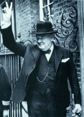 Churchill outside number 10 Downing Street